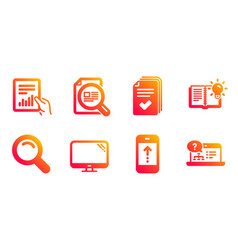 Handout product knowledge and document icons set vector