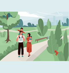 happy family with father mother and their son vector image