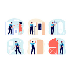 home masters work professional master repairman vector image