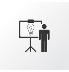 Idea presentation icon symbol premium quality vector