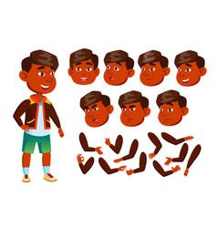 indian boy child kid teen cheerful vector image
