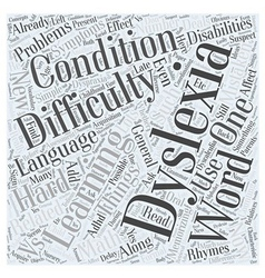 Is it really dyslexia word cloud concept vector