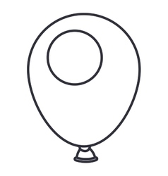 Isolated balloon for party design vector