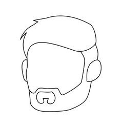 Isolated cute husband face vector