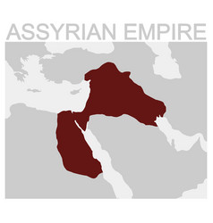 map of the assyrian empire vector image