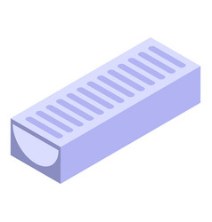 Metal gutter icon isometric style vector