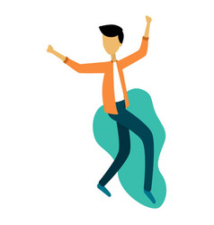 modern boy dancing and having fun at a party vector image