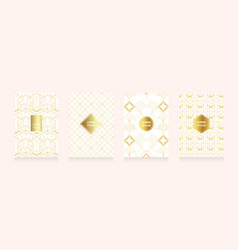 modern gold in art geometry style texture style vector image