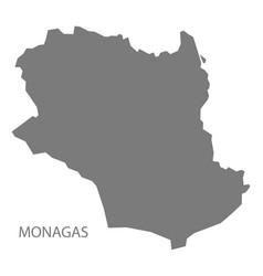 Monagas venezuela map grey vector