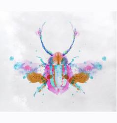 monotype vivid beetle vector image