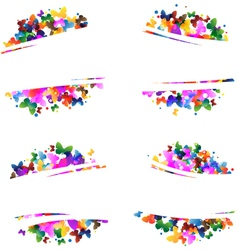 Multicolored silhouettes of butterflies vector image