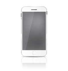 New Realistic Mobile Phone With Gray Screen vector image vector image