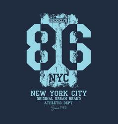 New york city brooklyn t-shirt design vector