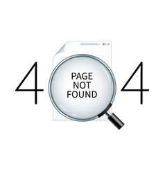 Page not found design template vector