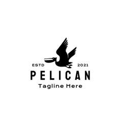 pelican bird logo design template vector image
