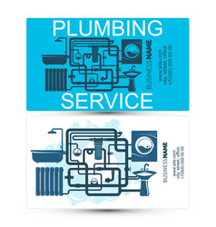 plumbing service and maintenance business card vector image