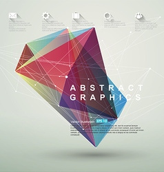 Point line surface composition abstract vector