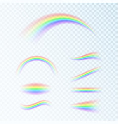 rainbow set in different shapes fantasy art vector image