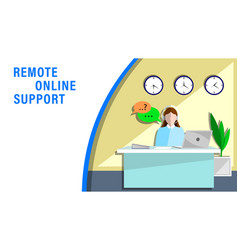 Remote online support vector