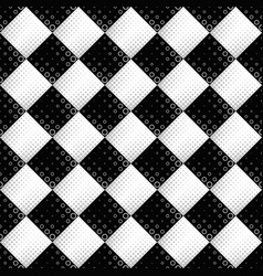 seamless black and white circle pattern background vector image