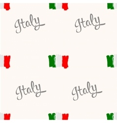 Seamless pattern Italy flag painted by brush hand vector image