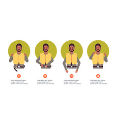 set guidance from steward african american flight vector image