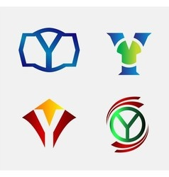 Set of Decorative Letter x - Icons Logo and Elemen vector