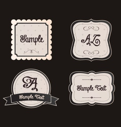 Shabby chic frames borders signs and copy space vector