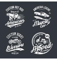 Shabby t-shirt emblem vector