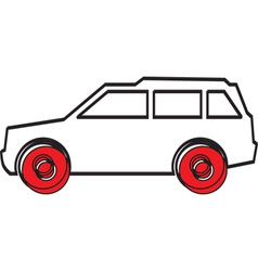Simple car design vector