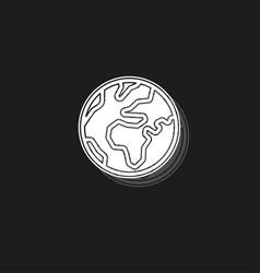 simple world icon vector image
