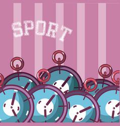Sport chronometers equipment vector