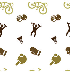 sports games set pattern seamless isolated vector image