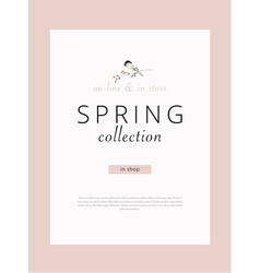 Spring sale advertising banner template sticker vector