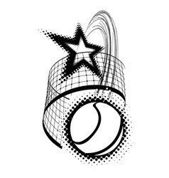 tennis ball with star isolated vector image