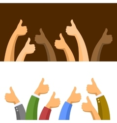 Thumbs Up Symbols Set vector image