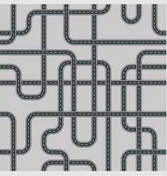twisted street and road seamless pattern isolated vector image