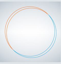 two circe abstract design double circle shape vector image