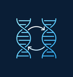 Two dna colorful outline icon or logo vector