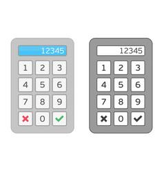 Vec keypad entry vector