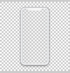 White mobile concept with empty screen for any vector