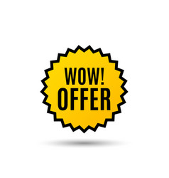 Wow offer great sale price sign vector