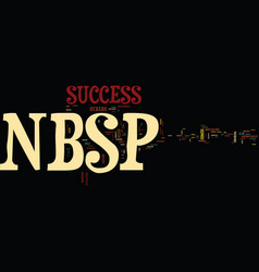 Your success text background word cloud concept vector