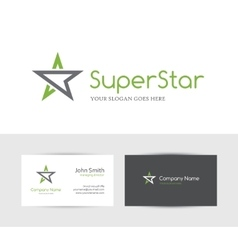 Green star logo vector image