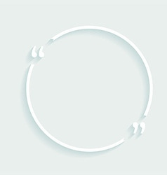 White circle plastic buttons background vector image