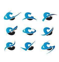 Alphabet C Logo Icons vector image vector image