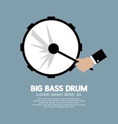 Big Bass Drum Music Instrument vector image