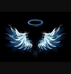 blue angel wings vector image vector image
