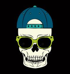 cool skull print for tshirt vector image