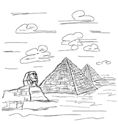 egypt pyramid vector image vector image